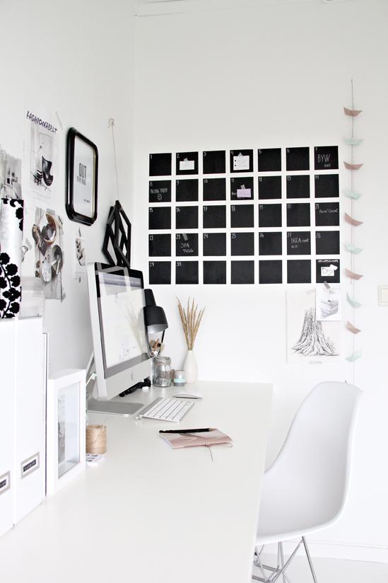 Diy Office Calendar : Nyt kontor boligciousboligcious
