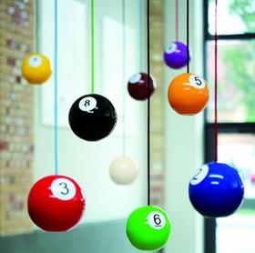 Billard og knapper interi r for 8 ball pool design