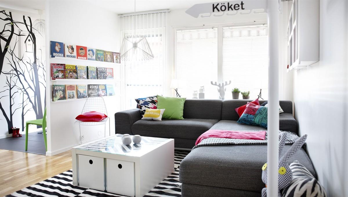 Sort hvid og s lidt farver hjemmebes g i sverige - Decorar casa estilo nordico ...